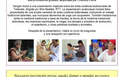 Presentación «Las artes curativas en Tailandia».